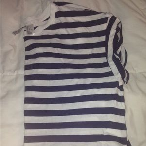 Blue - Striped cropped T-shirt